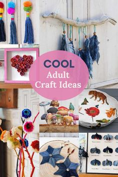 A collection of cool stay at home adult craft ideas.  Remember crafting is for the soul and great therapy.  There is bound to be the perfect craft for you here. Arts And Crafts For Adults, Crafts To Make And Sell, Adult Crafts, Diy And Crafts, Diy Craft Projects, Craft Tutorials, Craft Ideas, Decor Ideas, Rock Crafts