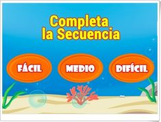 """""""Completa la secuencia"""" (Juego de series de números) To Tell, Learn Spanish, Maths Area, Learning Numbers"""