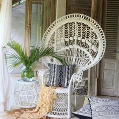 Wicker Patio Furniture – Make Your Patio Come Alive – Wicker Decor Guest Bedroom Decor, Wicker Bedroom, Bali Bedroom, Apartment Furniture, Wicker Furniture, Black And White Cushions, Boudoir, Interior Styling, Interior Design