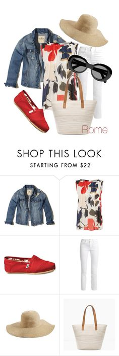 """""""Rome vacation (for Olya)"""" by viderski ❤ liked on Polyvore featuring Hollister Co., Marella, TOMS, Frame, BP., Chico's and Acne Studios"""