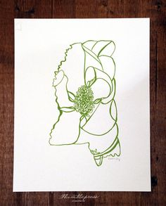 Letterpress Mississippi Magnolia by thimblepress on Etsy, $25.00