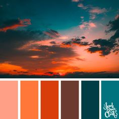 Red Sunset These 25 color combinations are inspired by beautiful clouds sunsets and nature s creativity in the sky Find more color combinations color schemes and color palettes at sarahrenaeclark com color colorinspiration - Sunset Color Palette, Orange Color Palettes, Color Schemes Colour Palettes, Sunset Colors, Colour Pallette, Color Palate, Red Color Combinations, Nature Color Palette, Colors Of Nature