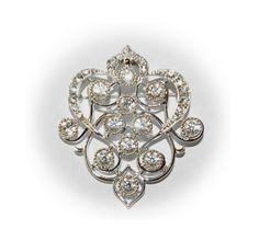 Vintage Emmons Silver Tone Brooch - perfect to clip on a Bridal Bouquet!
