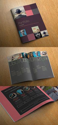 Brochure/portfolio design / InDesign portfolio template