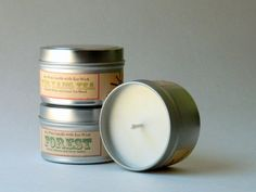 Choose 3 Eco Friendly Soy Candles / Relaxing Scented Candle Gift Set…