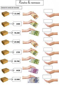#euro #pluseuro4                                                                                                                                                                                 Plus Teaching Money Activities, Teaching Math, Math Tables, Math Charts, Education World, Singapore Math, Montessori Math, Math Projects, Math Addition