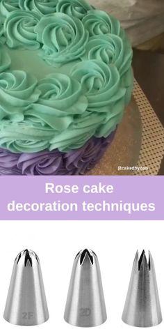Cupcake Decorating Tips, Cake Decorating Frosting, Creative Cake Decorating, Cake Decorating Techniques, Creative Cakes, Cookie Decorating, Frosting Tips, Rodjendanske Torte, Cake Piping