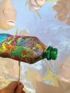 how to make a hole in plastic bottle