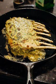 Dijon Roasted Rack of Lamb