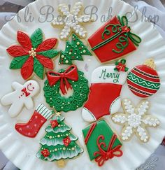 ton of pictures showcasing different decorated christmas cookies if you were to do them all it might take all year but these are some great ideas for