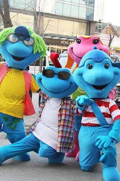 MASKOT | Creature Moving Eyes, Glossy Eyes, Laminated Fabric, Mascot Design, Character Costumes, Pink Tone, Mascot Costumes, Workshop, Character Design