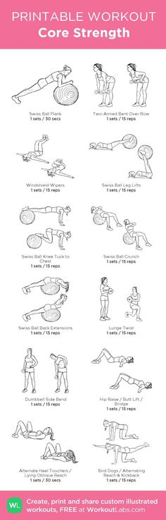 Core Strength –my custom workout created at WorkoutLabs.com • Click… #absworkout