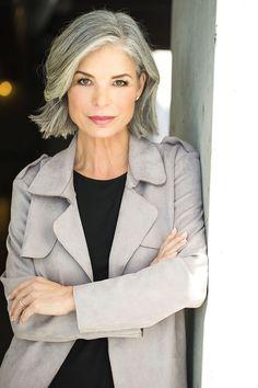 Kathi Odom represented by Bella Agency Grey Hair Old, Grey Hair Over 50, Long Gray Hair, Silver Grey Hair, Grey Hair Styles For Women, Medium Hair Styles, Short Hair Styles, Grey Hair Inspiration, Beautiful Old Woman