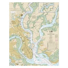 Charleston Harbor Chart printed on sailcloth for home décor wall art print. Unique Textile Printing http://www.amazon.com/dp/B00R4ZFH34/ref=cm_sw_r_pi_dp_LI8nwb0B4AZX5