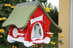 Gartendekoration - Vogelhaus mit Körnersilo: Vorratskammer XXL - ein Designerstück von vogelhausjette bei DaWanda