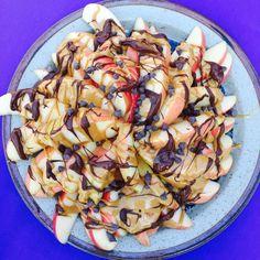 Peanut Butter Apple Nachos   Weight Watchers Recipes