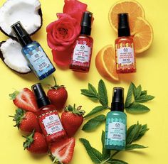 BEST BET OF THE DAY: The Body Shop Face Mists The Body Shop's Face Mists will be your No. 1 makeup helpers through winter.The Body Shop's Face Mists will be your No. 1 makeup helpers through winter. Bath And Body Sale, Bath And Body Works, The Body Shop Logo, Body Shop Skincare, Body Shop Products, Skin Products, Bet Of The Day, Bath And Body Perfume, Body Shop Tea Tree
