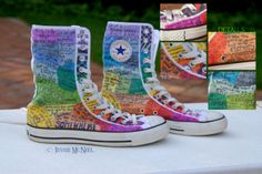 Rainbow Converse by Jessie-Bear.deviantart.com on @deviantART