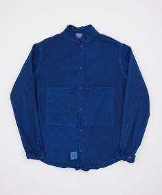 Tender Longsleeve Butterfly Shirt- Woad Calico - Superdenim