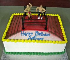 Wrestling Wrestlers Wwe 2 Figures Cage Birthday Cake