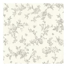French Nightingale Taupe Floral Scroll Wallpaper - 20.5 x 396 x 0.025 (20.5 x 396 x 0.025), Brown