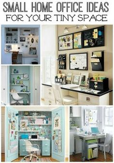 Don't let lack of space keep you from having an efficient home office. These five small home office ideas will help you get creative with the space you do have in your home.
