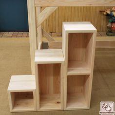 ボックス階段とロフトベッド