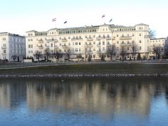 Winter reflections: Hotel Sacher, Salzburg
