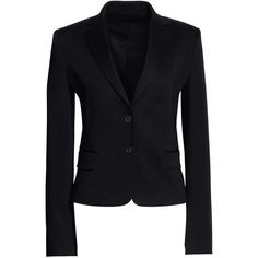 Canvas by Lands' End Women's Sporty Blazer ($225) ❤ liked on Polyvore featuring outerwear, jackets, blazers, black, slim fit jacket, slim fit blazer, slim blazer, slim jacket and slim blazer jacket