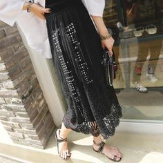 Buy 'REDOPIN – Lace-Overlay Lettering Maxi Skirt' with Free International Shipping at YesStyle.com. Browse and shop for thousands of Asian fashion items from South Korea and more!