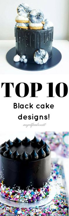 Top 10 Black Cake Designs | The best top 10 black trending cake designs that are super popular and trending, right now. Black pops, it has it's own 'wow' factor. Because everything goes with black, right?!? Adding elements of gold or metallics, or a touch of white and the design stands on its own. While scrolling Pinterest I found these amazing cakes that I just had to share. Cake Pictures, Cake Pics, Cake Photos, Metallic Cake, Cake Works, Cake Decorating Tutorials, Decorating Ideas, Cake Business, Cake Photography
