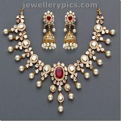 Top 10 Best Polki necklace sets jewellery - Latest Jewellery Designs