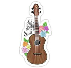 ~ It's called ukulele screamo and it's art ~ • Also buy this artwork on stickers.