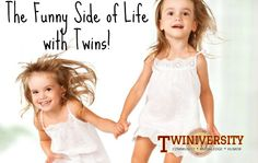 A mom describes how life with twins is an experience unlike any other! Phil And Teds, Twin Mom, Double Trouble, Girl Stuff, Twins, Camisole Top, Flower Girl Dresses, Wedding Dresses, Children
