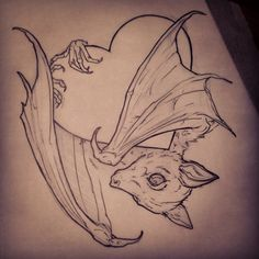 Shawn Hebrank Bat Tattoo