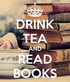 Drink tea and read books! Who else's favourite thing is this while lounging at home?