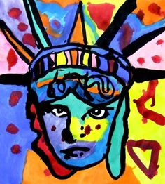 Peter Max's vibrant colors and expressionistic style were first seen in the sixties and became part of American culture. Besides being an evironmentalist and defender of human rights, he is a patriot. Since 1976 he has painted the Statue of Liberty every July 4th