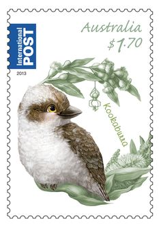 Cheeky Kookaburra on our Bush Baby stamps