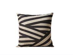 Striped throw pillow cover 18x18 Geometric von jorgestudio auf Etsy