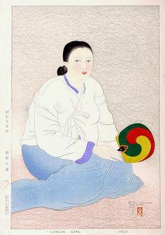 "Paul Jacoulet: ""A Korean Girl"""