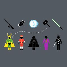 CHOOSE YOUR WEAPON AND FIGHT T-Shirt - Pop Culture T-Shirt is $14 today at TeePublic!