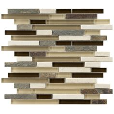 Somertile Reflections Piano Nassau Stone and Glass Mosaic Tiles (Pack of 5) - Overstock™ Shopping - Big Discounts on Somertile Wall Tiles