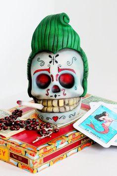 Rockabilly Sugar Skull. Cake by ManBakesCake