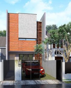 Modern House Design Whether you are searching for a single-storey or double-storey design, you will be certain to locate your perfect home amongst our great Modern Architecture House, Facade Architecture, Residential Architecture, Modern Tropical House, Tropical Houses, Tropical House Design, Facade Design, Exterior Design, Morden House