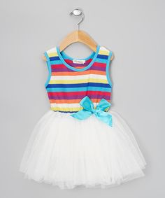 Look at this White Stripe Tutu Dress - Infant & Toddler on #zulily today!