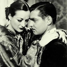 "Joan Crawford and Clark Gable ""Chained"""