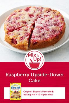 Turn this cake over to reveal its sweet raspberry-almond surprise. It's a fabulous summer dessert when fresh berries are abundant! Desserts Menu, Delicious Desserts, Dessert Recipes, Yummy Food, Yummy Treats, Sweet Treats, Best Brunch Recipes, Favorite Recipes, Easy Recipes