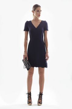 Triple Crepe & Macramé Dress