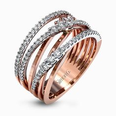 Simon G MR2606 0.66ctw Diamond Cocktail Ring