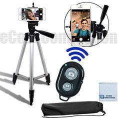 "50"" Inch Camera Tripod Universal Smartphone Mount Bluetooth Wireless Remote  #eCostConnection"